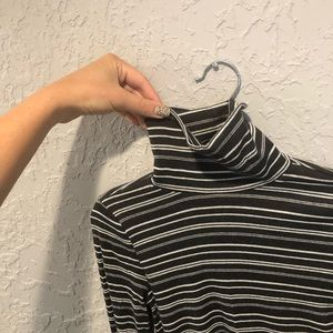 Hollister   Fitted Striped Turtleneck Top
